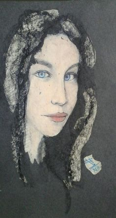 Armelle Lucie / oil,cardboard,pedrage