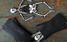 Invitaciones Esqueleto Halloween