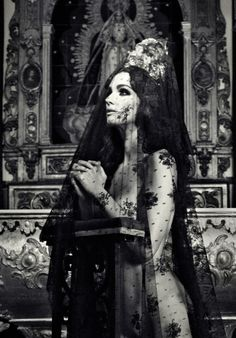 scary Black and White creepy religion prayer dark church darkness goth gothic Macabre cult Goth girl Dark Beauty, Gothic Beauty, Sheer Beauty, White Photography, Fashion Photography, Monochrome Photography, Dark Romance, Mystique, Macabre