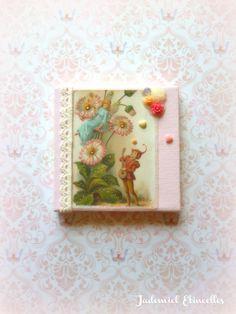 """Toile miniature décorative """" La Sérénade, ou comment conter fleurette à une fée ... """" : Accessoires de maison par jademiel-etincelles"""