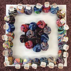 Knitcol passion: let's start the new year with a rainbow of colors! #Adriafil #Knitcol http://bit.ly/AdriafilKnitcolYarn From the shop Knotty Lady Yarns