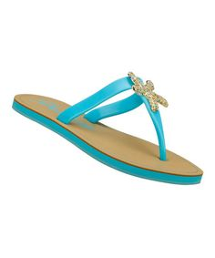 3ad8e3f7ecdf30 Blue Color Pop Flip-Flop by Skechers on  zulily perfect for hiding under my