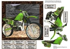 Dirt Bike Card Topper Decoupage on Craftsuprint - Add To Basket!