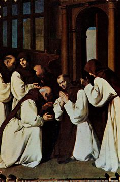 Francisco de Zurbaran, Brother Juan de Carrion Bidding Farewell to his Brothers, 1637-40 | Flickr - Photo Sharing!