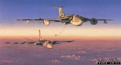Victor bomber refueling a vulcan bomber