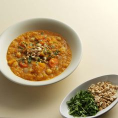 Modeled on North African stews, this aromatic vegetarian main course can be served over brown rice or steamed spinach. Recipe: Squash, Chickpea, and Red Lentil Stew   - Delish.com