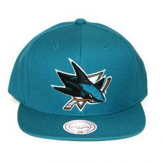 Mitchell & Ness NHL San Jose Sharks Vintage Wool Basic Logo Team Primary Color Snapback