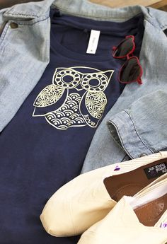 This feathered friend gives a hoot about fair trade -- what could be wiser? An adorable owl animates our tee with a sweetly comical expression. Priceless!  Handmade by women rescued from sex traffickers in Calcutta, each tee tells the story of the journey to freedom. Working with Freeset Bags, a fair trade group, these women artisans earn a living wage and have the opportunity to become literate.