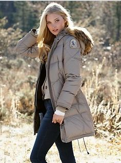 parajumpers light long bear down coat