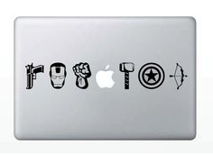 The Avengers Laptop Decal. $9.50, via Etsy... for Jesse haha