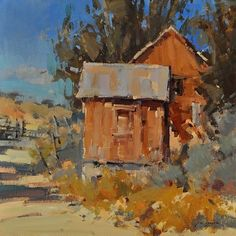 Farm Sentinels by Jill Carver Oil ~ 16 x 16