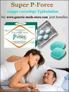 Super P-Force (Sildenafil und Dapoxetine) ist ein revolutionäres Medikament, das nicht nur eine Erektion unterstützt sondern auch dabei hilft eine verfrühte Ejakulation zu verhindern. Das Medikament ist eine Kombination zweier Behandlungen. Die Kombination der Wirkstoffe Sildenafil Citrate (100mg) und Dapoxetine (60mg) machen Super P-Force (Sildenafil und Dapoxetine) einzigartig im Vergleich zu anderen Potenzmittel. Hier finden Sie Super P-Force:  www.generic-meds-store.com
