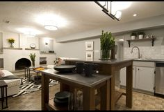 Income Property on HGTV, your source for Income Property videos, full episodes, photos, articles and updates. Watch Income Property on HGTV. Painted Brick Fireplaces, Income Property, Diy Kitchen, Kitchen Ideas, Open Concept Kitchen, Hgtv, Living Area, Kitchen Island, Sweet Home