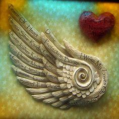 Angel Wing Personalized Stain Glass Frame Custom by cindujokel, $400.00