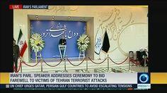 Iran's Parl. Speaker addresses ceremony to bid farewell to victims of Tehran terrorist attacks