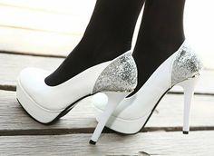 CooLcept free shipping NEW high heel wedge shoes platform fashion women dress sexy heels pumps H1741 hot sale EUR size 34-39
