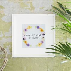 Wedding Present, Personalised Wedding Gift, Wedding Wall Art, Anniversary Gift, Engagement Gift, Wedding Gift Ideas, Gift for Couple, Framed by Lilliputbelle on Etsy