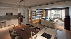 Gorgeous apartment design for a young couple.