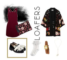 """""""Outfit with #loafers"""" by xjamaine on Polyvore featuring mode, RED Valentino, Anouki, Gucci, Monsoon, Loeffler Randall, Bølo, Fall, dress en loafers"""
