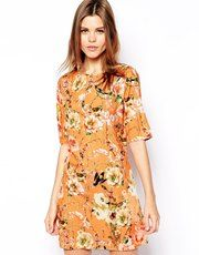 True Decadence Shift Dress in Botanical Floral Print