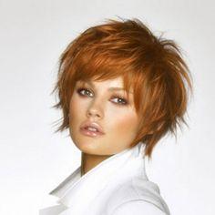Coiffure cheveux courts visage rond
