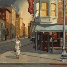 This is not a Hopper painting. It's by Sally Storch. Sharlene