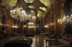 Ballroom of the Palazzo Valguarnera Gangi, Piazza Croce dei Vespri, Palermo Art Nouveau Architecture, Architecture Design, Decoration Baroque, Palermo Italy, Ballrooms, 18th Century, Trip Advisor, Beautiful Places, House Beautiful