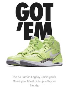 abb78e543680a1 Air Jordan Legacy 312 Just Don Ghost Green size 13 Don C    CONFIRMED