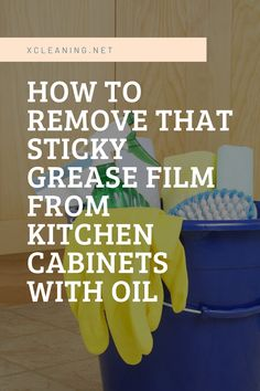 Whoever cooks knows that on the kitchen cabinets a thin fat film is formed, because you don't have to wait until it gets thicker, which is extremely hard to remove. And if you try to clean that gre… Keurig Cleaning, Cleaning Cabinets, Clean Kitchen Cabinets, Bathroom Cleaning Hacks, House Cleaning Tips, Cleaning Items, Kitchen Cleaning, Cleaning Products, Remove Oil Stains
