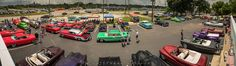 A panoramic from the roof of Edwards Drive in at the 2015 Custom Car Revival Coverage