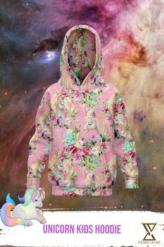 Grab this Unicorn Kids Hoodie today! Limited time only! Unicorn Kids, Kids Outfits, Kids Fashion, Hoodies, Painting, Collection, Art, Art Background, Sweatshirts