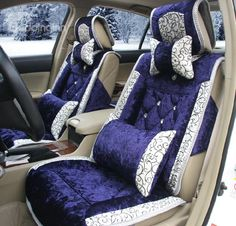 New Arrival High Quality Crystal Style Embroidered Fashion Seat Covers