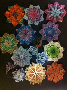 Origami Flowers   Origami with a Twist   Australia Scrapbooking