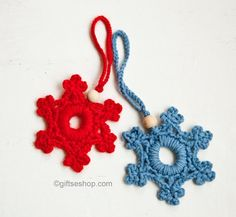 Snowflake Ornament Free Crochet Pattern