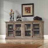 Found it at Wayfair - TV Stand with Glass Door Cabinets $497