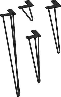 aangeboden: maak retro vintage tafel met hairpin legs tafelpoten
