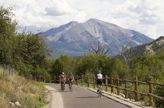 Bike the Rio Grande Trail in the Roaring Fork Valley, Colorado; 40 miles long, paved, rail trail