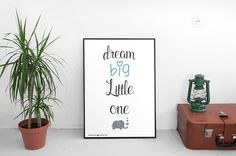 """Vanilla Vision: Free printable quote """"Dream big little one - Simple and easy DIY print the poster and put it in a frame . it makes a great wall decoration for your home or your office . - This poster is size A4.  ** If you want it in a different size please contact me I`ll be happy to do it for you . To download it in printable high resolution go to : http://goo.gl/edDFYz"""