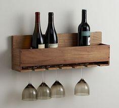 DIY Wine bottle and glass rack. Free plans by Jen Woodhouse