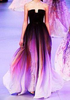 This dress is an Iris flower
