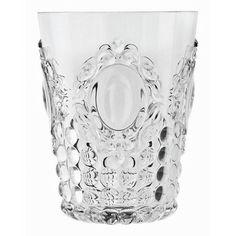 Baci Milano Baci Milano Baroque and Rock Acrylic Water Glass