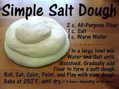 Easy and Cheap Salt Dough Ornament Ideas for Holiday Moments 26 – Homely Salt Dough Projects, Salt Dough Crafts, Salt Dough Ornaments Recipe No Bake, No Bake Salt Dough Recipe, Simple Play Dough Recipe, Salt Dough Recipe Handprint, Salt Dough Recipes, Bake Clay Recipe, Craft Dough Recipe