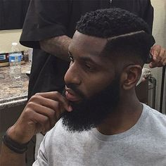 Clean All Over Faded Beard Black Men Haircuts