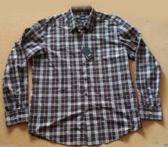 HUGO BOSS men size XL #casual dress shirt NWT (brown plaid pattern) HugoBoss visit our ebay store at  http://stores.ebay.com/esquirestore