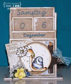 Herzlich Willkommen zu einer neuen Ausgabe ... Heute haben wir eine Anleitung für einen immerwährenden Tischkalender, der nicht viel Platz ...