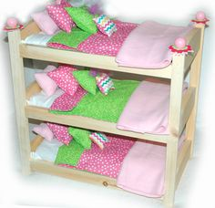 Triple Doll Bunk Bed - my girls would be in heaven with this! Works perfectly for American Girl Dolls!