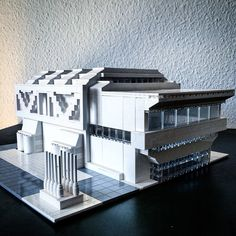 Lego Brutalist and Modernist Buildings by Arndt Schlaudraff   Faith is Torment   Art and Design Blog