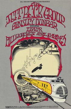 Jeff Beck Group at Fillmore West, 1969. Artist: Randy Tuten