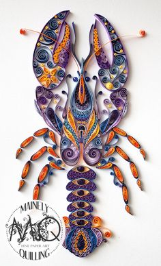 ▷ 1001 + Ideen und Bilder zum Thema Quilling Anleitung making a lobster with paper strips, a purple lobster made … Neli Quilling, Ideas Quilling, Origami And Quilling, Paper Quilling Designs, Quilling Patterns, Quilling Instructions, Paper Quilling Tutorial, Quilled Paper Art, Quilling Paper Craft