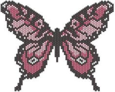Beaded Butterfly PATTERN peyote